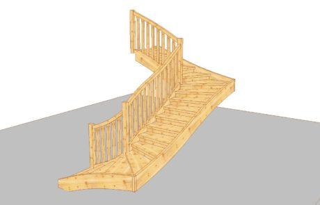 3D konstrukce schodů