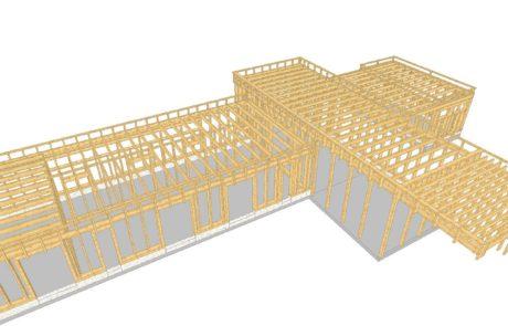 3D konstrukce domu